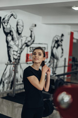 Sexy girl in the gym