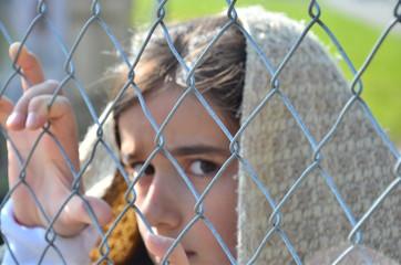 Flüchtlinge am Zaun