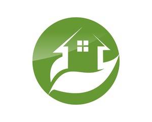 home green logo icon vector