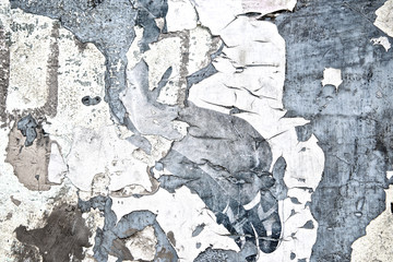 Fotobehang Oude vuile getextureerde muur Vintage texture grunge peeling old cement wall background or Abstract cracked plaster concrete wall. Old street wall for poster background. High quality. Close up.