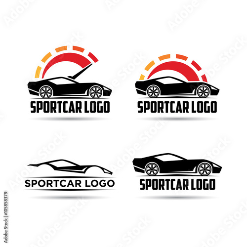 Auto Speed Car Sport Speed Meter Logo Template Stock Image And