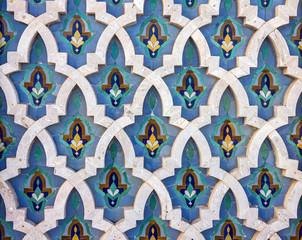 Casablanca, Morocco. Mosque Hassan II decoration