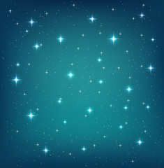 Night sky background with glittering stars. Vector