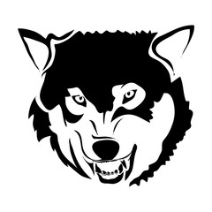 Outline wolf vector image. Can be use for logo