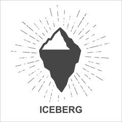 Iceberg - Monochrome hipster grunge vintage label