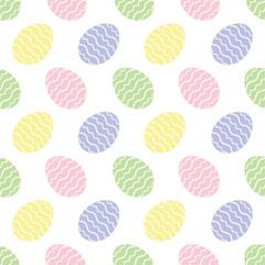 background seamless illustration - Easter eggs