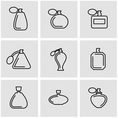 Vector line perfume icon set. Perfume Icon Object, Perfume Icon Picture, Perfume Icon Image - stock vector