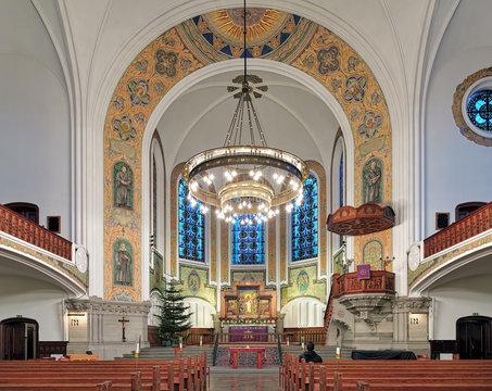 Interior of St. John's Church (Sankt Johannes kyrka) in Malmo, Sweden