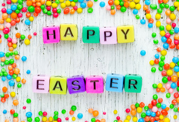 Colorful Happy Easter background