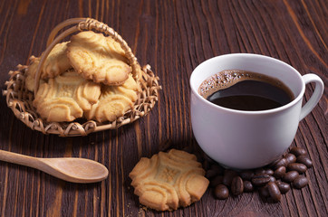 Coffee and shortbread cookies