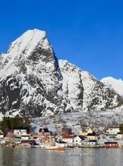 Lofoten islands in Norway during the winter