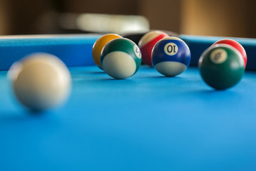 Colorful pool balls