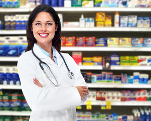 Doctor pharmacist woman.