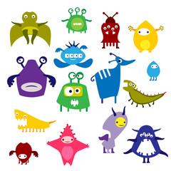 Color alien monster