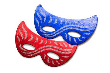 Carnival masks isolated on the white background