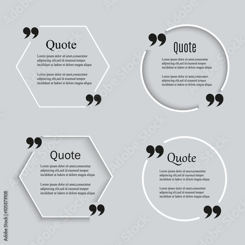 quote blank template quote bubble empty template circle business
