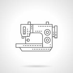 Stitching machine flat thin line vector icon