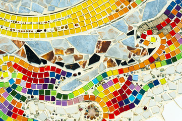 Art mosaic glass on the wall