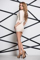 Beautiful leggy woman