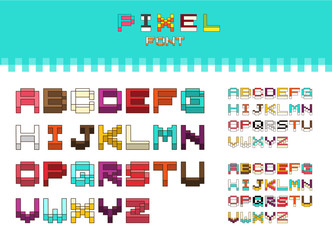 Isometric colorful alphabet font. 3D isometric letters for web a