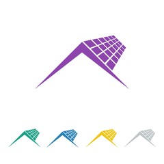 solar cell logo icon Vector