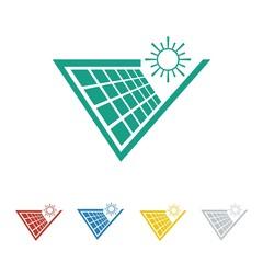 solar cell logo icon Vector