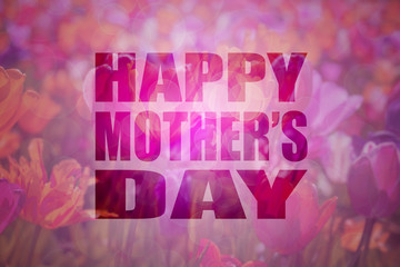 Happy Mothers Day Text Floral Background