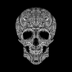 Decorative vector skull
