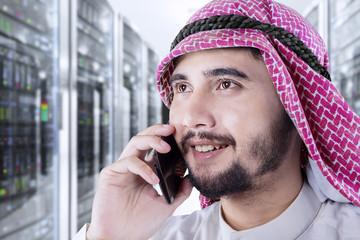 Entrepreneur talking by mobile phone
