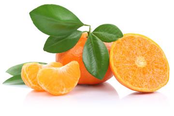 Mandarine Mandarinen Früchte Freisteller freigestellt isoliert