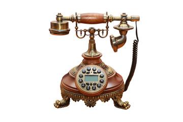 Vintage Telephone isolated on White Background