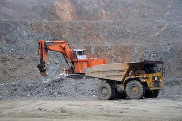 loading up at a coal mine, West Coast, New Zealand
