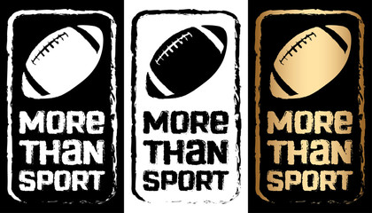 American football print