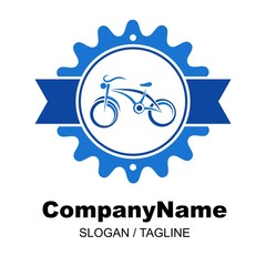 bike shop logo icon Vector