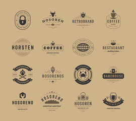 Vintage Logos Design Templates Set, Vector Design Elements