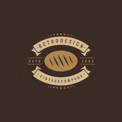 Bakery Shop Logo Template. Vector Design Element Vintage Style for Logotype