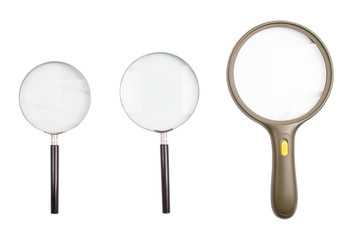 Magnifying glasses magnifying on a