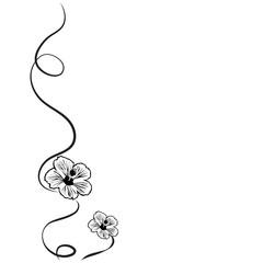 Vector silhouette of flower.