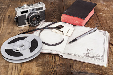 Film Roll and Book