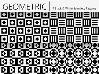 Set of 4 Geometric Seamless Patterns
