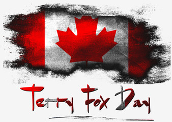 Flag of Canada for Terry Fox Day