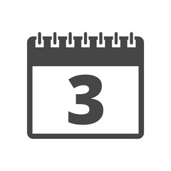 Calendar icon - number 3