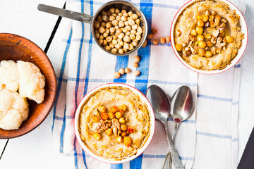 Vegan vegetable casserole with mushrooms, chickpeas and nuts, to