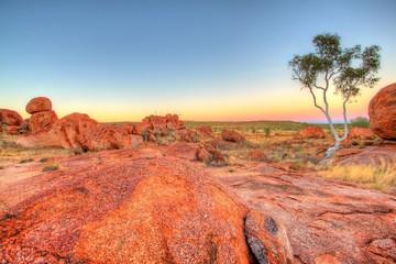 Printed kitchen splashbacks Coral Karlu Karlu - Devils Marbles in outback Australia