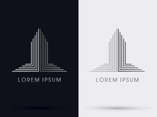 Building abstract logo,vector