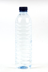 Drinking water in plastic bottle