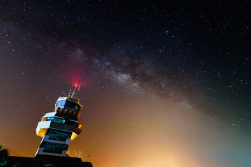 Milkyway over Ranong air traffic control tower