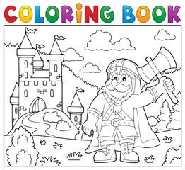 Coloring book dwarf warrior theme 2