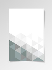 Grey modern flyer design template triangle vector