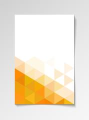Orange modern flyer design template triangle vector